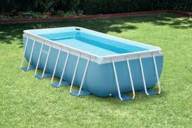 rectangle above ground swimming pool. Rectangular Above Ground Pool Outdoor Metal Frame Swimming . Rectangle