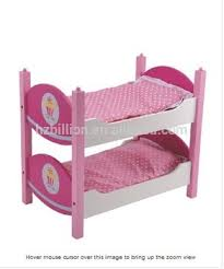 Hot Selling Pretend Play Wooden Doll Furniture Doll Bunk Beds