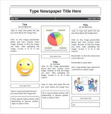 Free Teacher Newsletter Templates Elementary Student Newspaper Template Google Doc Download Teaching