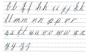cursive calligraphy downward stroke letters