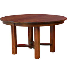 amish round dining table small dining table expandable dining table wood table mission style south hills