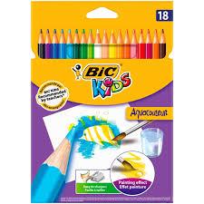 Crayons De Couleur Bic Kids Aquacouleur X18 Bic Bic La Boite De Crayon De Couleur Aquarellable Carrefour L