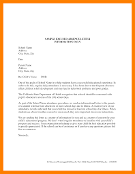 Sample Letter Of Absent From School 10 Excuse Letter For Absence Cains Cause