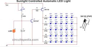 Ldr Circuit Diagram For Street Light Light Activated Switch Circuit Diagram Using Transistor