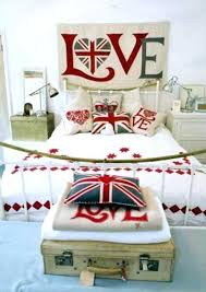 British Themed Bedroom Bedroom Decor In Blue Red White Color Combination  And Patriotic Decoration Ideas British