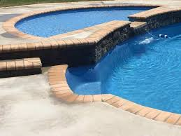tanning ledge with cascade latham pool fiberglass pools