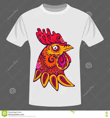 Doodle Shirt Design Ethnic Rooster T Shirt Design Stock Vector Illustration Of