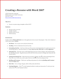 Collection Of Solutions How To Do A Resume In Word Resume Builder