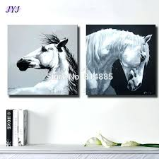 horse canvas wall art 2018 black white horses canvas art wall picture for living room hand horse canvas wall art  on shadow rider horse canvas wall art with horse canvas wall art framed canvas wall art printing white horse