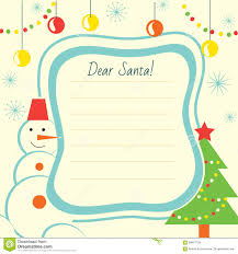 Free Christmas Website Templates Christmas Letter Template To Santa Claus For Print Stock