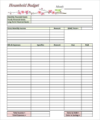 Free Family Budgeting Worksheets Free Household Budgeting Worksheet Free Family Budget Thevillas Co