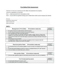 Job Risk Assessment Form Safety Template Hazard Analysis