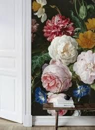 Zelfklevend Behang Vaas Bloemen Zwart 250x250cm Vintage Interieur