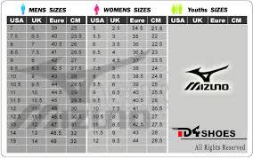 Mizuno Size Chart Women Www Studiozanolla Com