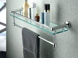 towel bar with shelf towel rack shelf architecture bathroom with bar brushed within glass design towel