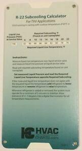 Details About R 22 R22 Refrigerant Charging Chart Gauge Set Guide N