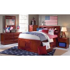 World Furniture Merlot Full Size Captains Bed