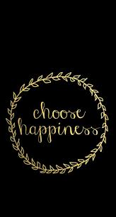 Black Gld Vine Wreath Happiness Iphone Phone Wallpaper Background Simple Gld Quote