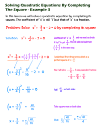 completing the square of a quadratic equation 3 steemkr