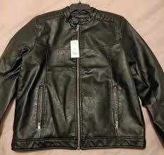 black burton menswear faux leather biker jacket mens brand new si