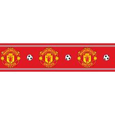 Manchester United Bedroom Wallpaper Decofun Manchester United Official Border Bo50000 Decofun From