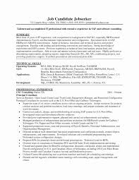 Sample Resume With Sap Experience Mechanical Engineering Resume