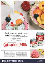 Carnation Light And Creamy Recipes 1956 British Advertisement For Carnation Evaporated Milk