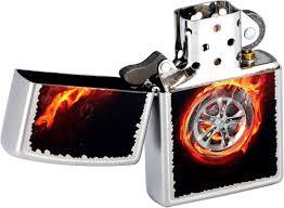 Бензиновая <b>зажигалка Zippo</b> Z_205-<b>Tire</b>-On-Fire — купить в ...