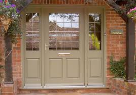 timber entrance door with astragal bars wide timber entrance door with side panels
