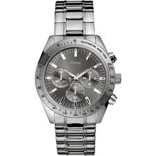 guess chase grey dial chronograph chrome stainless steel bracelet guess chase chronograph grey dial stainless steel bracelet mens watch w13001g1