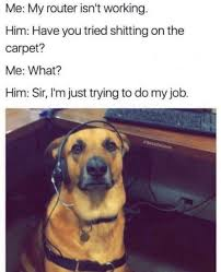 dog tech support. dog tech support is classic u