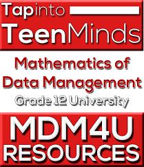 Mdm4u Grade 12 Data Management Mathematics Handouts Resources
