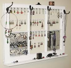 interior girly necklace wall organizer for saved pretty accessories and white edge color had many
