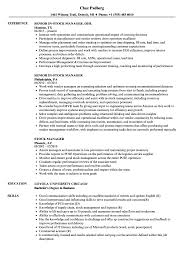 Stock Manager Resume Samples Velvet Jobs