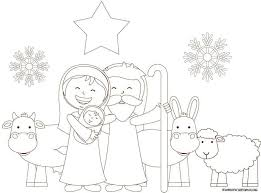 Here is a set of nativity coloring pages for preschoolers. Nativity Coloring Pages Skip To My Lou