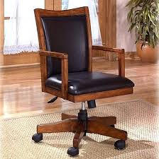 leather wood office chair mission craftsman oak leather executive office chair view images wooden leather executive
