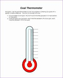 Fill In Thermometer Chart 30 Excel Thermometer Chart Template Andaluzseattle