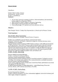 Sample Resume For Fmcg Sales Executive Resume Pdf Download