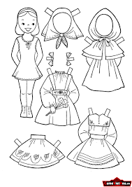 1 : Tranh tô màu quần áo cho bé trai và bé gái tập tô màu