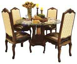glass top kitchen tables palace 5 piece round glass top dining table set com round glass
