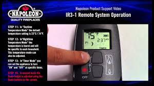 napoleon ir3 1 remote operating instructions tutorial