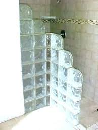 glass blocks design block shower ideas bar wall in elegant kit bloc home depot