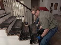 Removing Stair Carpet How To Replace Staircase Treads How Tos Diy