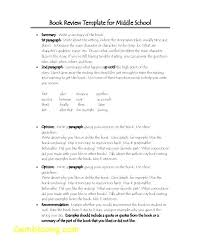 Free Book Report Forms Middle School Review Outline High 7 Template