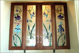 stained glass kitchen cabinet doors patterns door insert