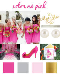 The nice thing about a hot pink color palette is that it can go along with  several wedding themes  rustic country chic, vintage, city chic, ...