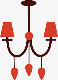red chandelier chandelier red cartoon png image and clipart