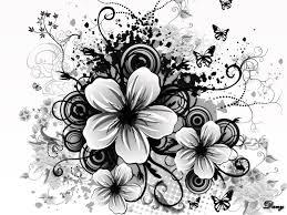 black and white flower wallpaper dowload free
