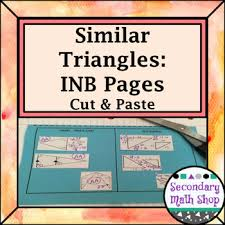 similar triangles methods of similarity cut paste interactive notebook pages