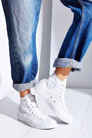 womens converse high tops white